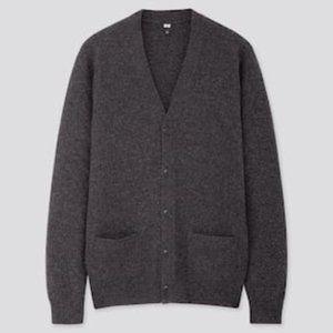Uniqlo Premium 100%Lamb's wool cardigan NWT size M